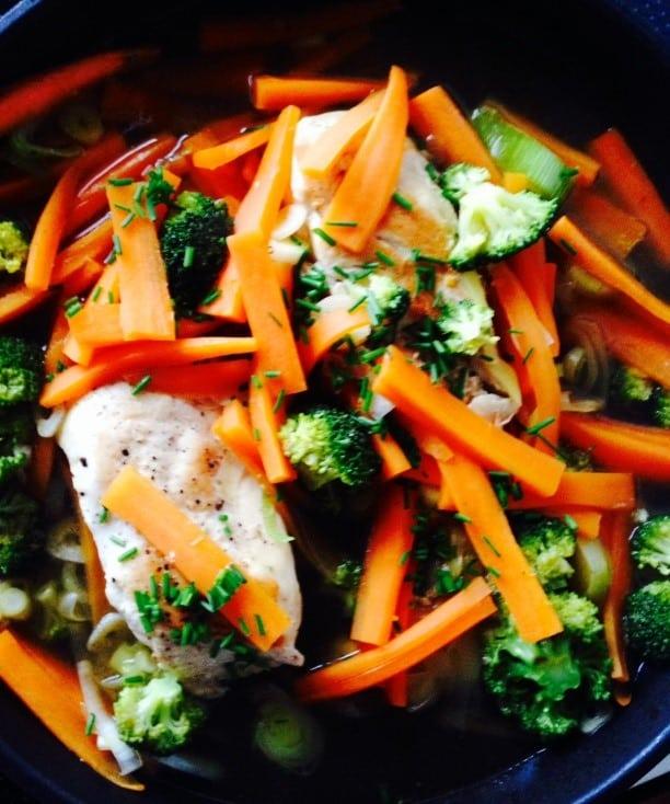 Kylling og ingefær – 410 kcal.